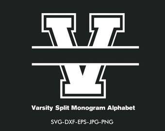 Vasity  Monogram Svg, Varsity collegiate Font Svg Interlocking Monogram Alphabet , EPS png jpg files. svg dxf for Silhouette Cameo or Cricut