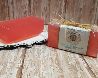 Pink Grapefruit Glyercin Soap