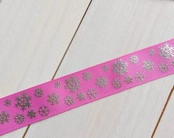 Silver Pink snowflake Ribbon coupon