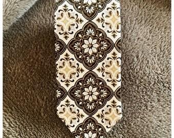 Black, White, & Gold Skinny Tie