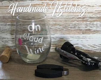 stemless wine glass, wine glass, 15 ounce glass, READY TO SHIP, vinyl, gift for her, Mother's Day gift, birthday gift, Easter gift