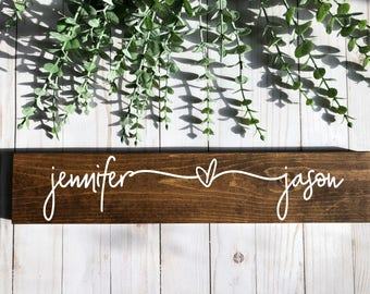 name sign-personalized sign-wood sign-wooden sign-wedding-wedding gift-valentine's day gift-valentine's day decor-anniversary gift-farmhouse