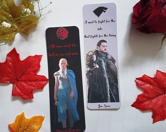 Game of Thrones bookmarks - Daenerys Targaryen / Jon Snow