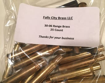 30-06- once fired range brass-mixed headstamps-cleaned - 25 Count