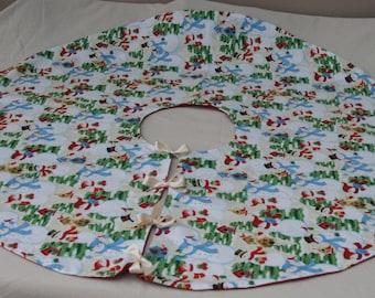 Snowman Fabric Christmas Tree Skirt