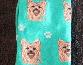 Yorkshire Terrier Yorkie Dog Breed Lightweight Stretch Cotton Adult Socks