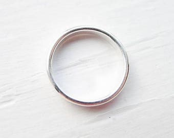 Dainty stacking ring - 2mm width - silver
