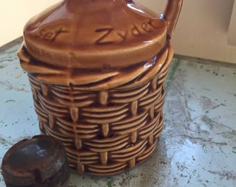 Zummerset zider jug, a Wilson and Purdy Design wicker pitcher, Cider Jar, Somerset Cider jug