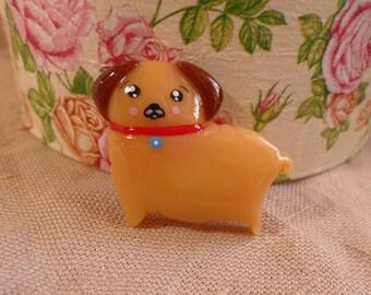 Pug Pin, Kawaii Pug, Cute Pug, Apricot Pug, Cute Pug Portrait, Clay Pug Portrait, Orange Pug, Pug Dog Jewelry, Pug Jewelry, Pug Brooch
