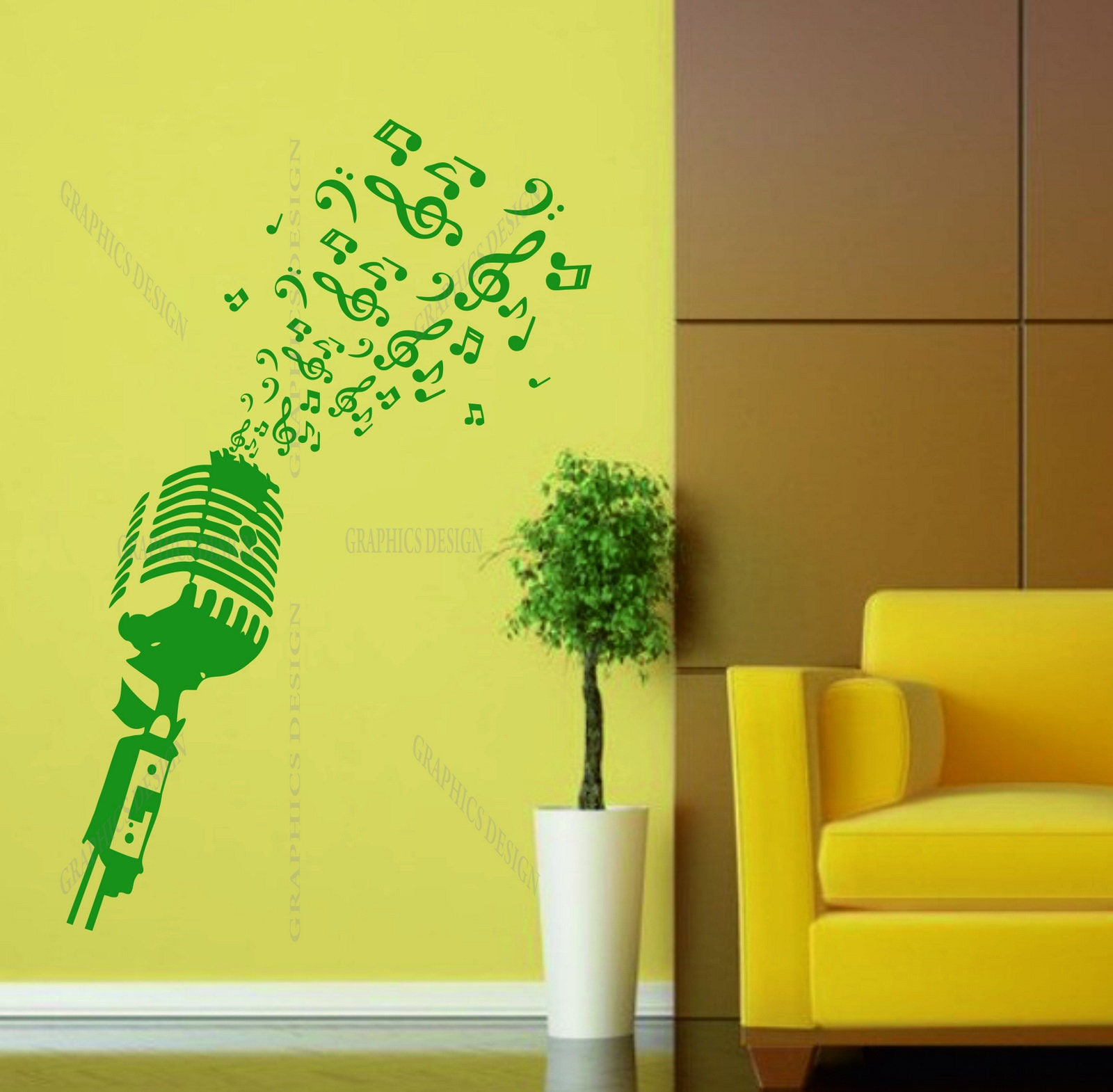 Charming Musical Note Wall Art Gallery - The Wall Art Decorations ...