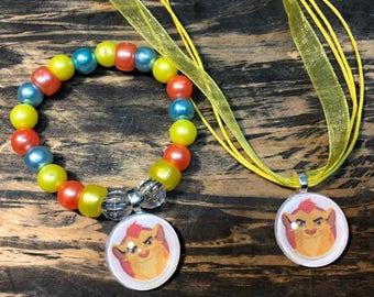 Lion Guard party favors.Lion King party favors.Lion Guard bracelet.Lion Guard pendant necklace.Lion king party