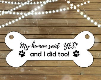 Dog Engagement Sign, Printable Sign, Instant Download