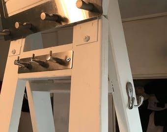 Ladder shelf storage upcycled