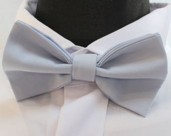 Bow Tie. UK Made Light Blue. Cotton. Premium Quality. Pre-Tied.