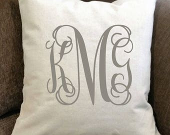 Personalized Pillow- monogrammed pillow, personalized pillow cover, farmhouse decor, monogrammed throw pillow