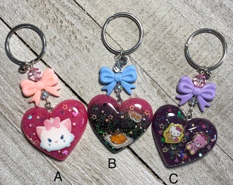 Puffy Heart Keychain