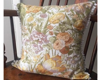 Sanderson Floral Cushion Cover, Vintage Fabric