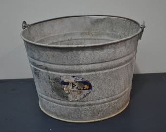 4 Gallon Galvanized Bucket
