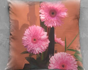 Pink Flower Arrangement Pillow