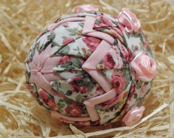 Pink with roses easteregg ornament