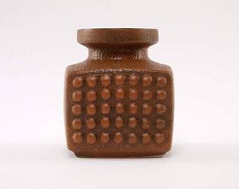 Op Art East German Vase by VEB Haldensleben Form 3059 Vintage Ceramic of the '70ies
