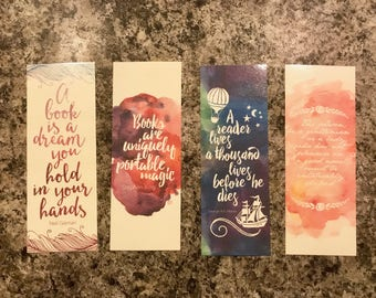 Large Quotable Watercolor Bookmarks