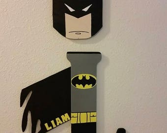 Batman Theme wall name hanging