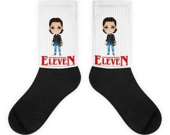 Eleven Stranger things socks, Eleven socks, Eleven gift for women Stranger socks Stranger things 2 gift Stranger things 2 socks, Bithcin 011