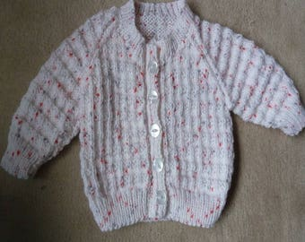 Handcrafted Baby Girl's  Cardigan Pink  /   Ombre purple newborn+
