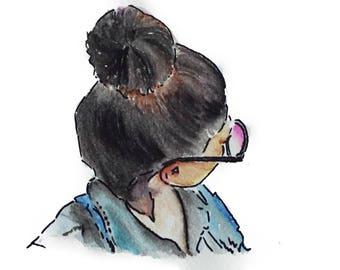 Watercolor Girl #2
