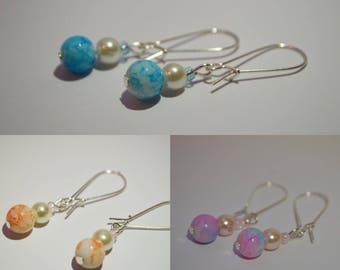 Dangle Earrings Glass Bead