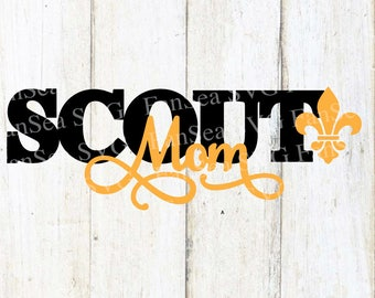 Scout Mom SVG DXF PNG Digital Cut File for use with cutting machines Cricut Silhouette