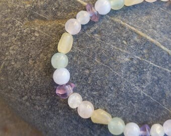 "Bracelet child ""BOREALIS"" blend of natural stones"