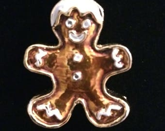 Christmas Gingerbread Man Necklace