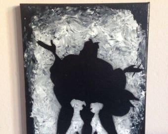 cruella deville acrylic painting