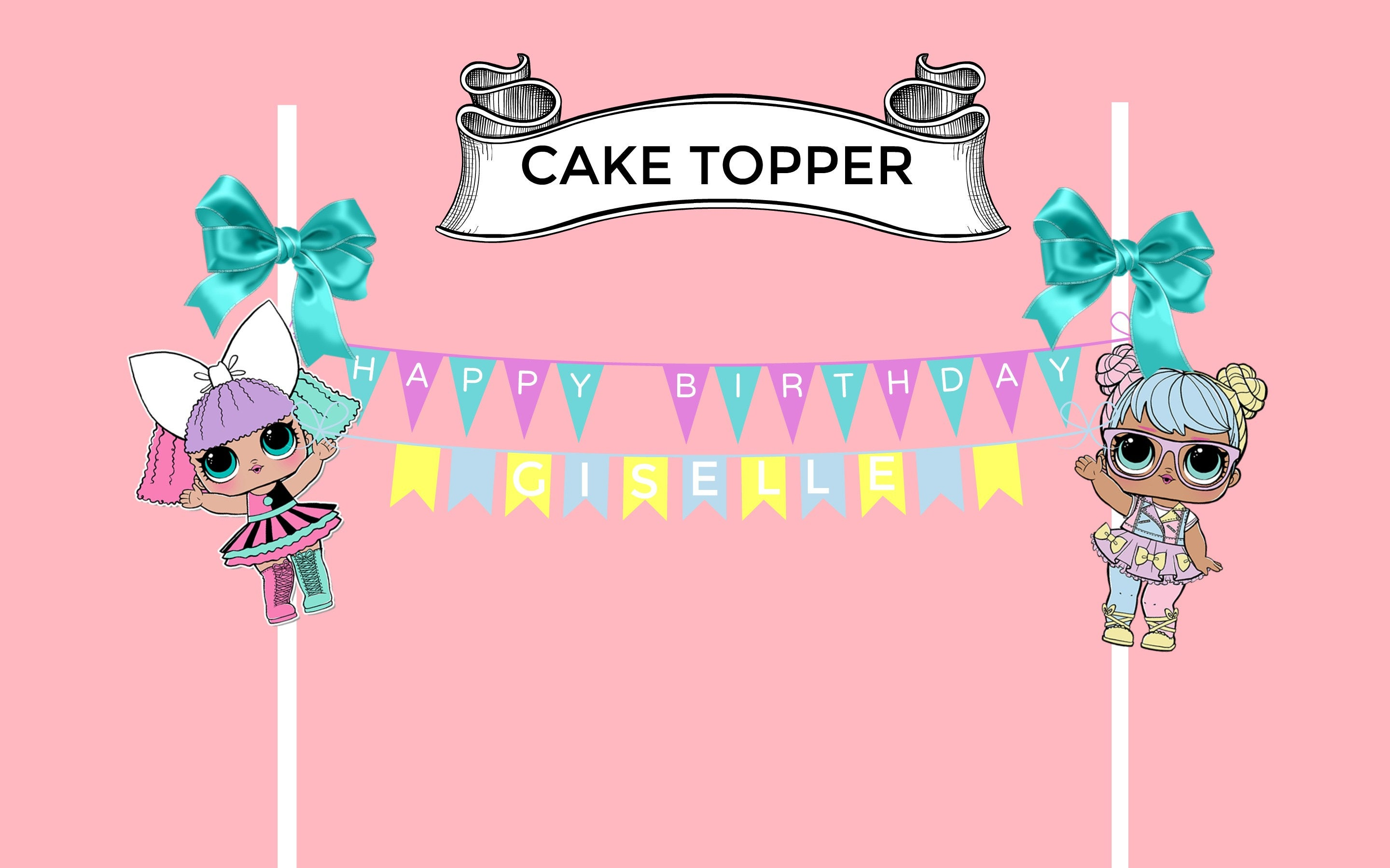 Popular L.O.L Surprise Dolls - Birthday Banner Topper [E10261624442304959M  FC48