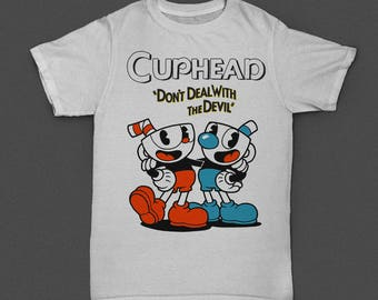 Stamping for t-shirt Cuphead vector
