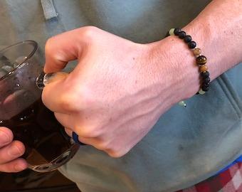 Custom bracelet - men's bracelet - women's bracelet - adjustable bracelet - protection - good vibes - blessed - custom gift