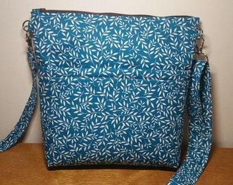 Teal Crossbody Bag, Shoulder Bag, Purse with adjustable Strap, Gift for Her