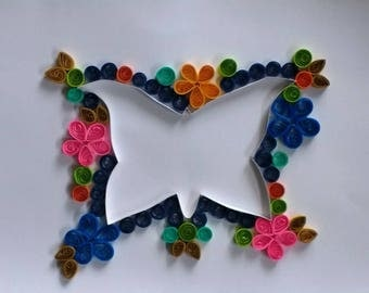 Decor home with this butterfly quilling art