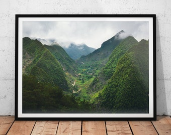 Vietnam Mountain View // Asia Home Decor, Travel Photography, Landscape Prints, Asian Fine Art, Photos of Asia, Nature Photography Wall Art