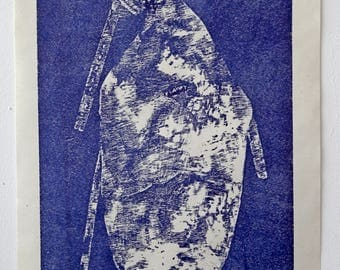 Traditional Gajida1 engraved wood-block print