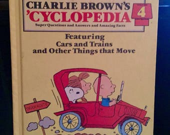 Charlie Brown CYCLOPEDIA Vol. 4 Questions, Answers, Cars & Trains that Move Book
