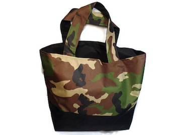Camouflage Canvas Tote for Woods or Work