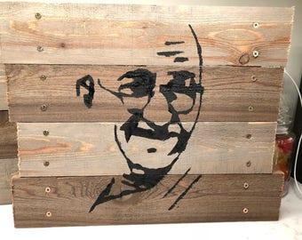 Gandhi - pallet art