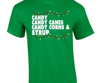Tacky Christmas Shirt Candy Candy Canes Holiday Christmas T Shirt Will Ferrell Elf Movie