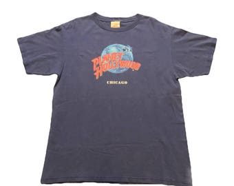 Vintage 90s Planet Hollywood Chicago T-shirt