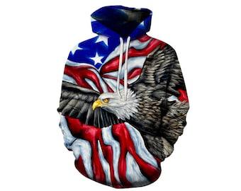 Eagle Hoodie, Eagle, Eagle Hoodies, Animal Prints, Animal Hoodie, Animal Hoodies, Eagles, Hoodie, 3d Hoodie, 3d Hoodies, Usa Hoodie Style 4
