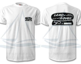 Land Rover Defender 50th Anniversary TShirt, Badge, Novelty T-Shirt, Cars, Novelty Gift, Defender T-Shirt, Land Rover T-Shirt Adults