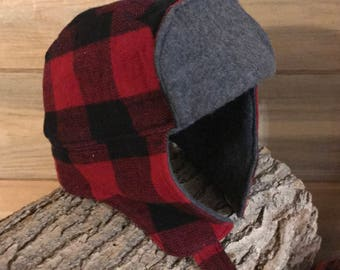 Buffalo Plaid Baby lumberjack hat